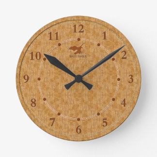 Reloj Redondo Mediano 5 decorativos de madera ligeros una venta moderna