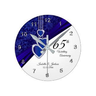 Reloj Redondo Mediano 65.o/45.o recuerdo del aniversario de boda del