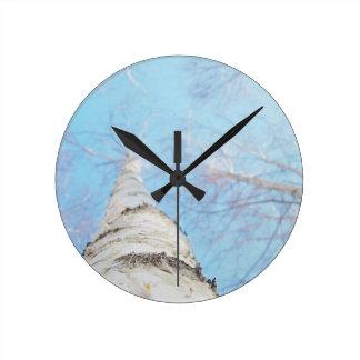 Reloj Redondo Mediano abedul