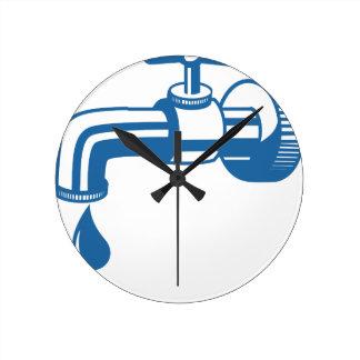 Reloj Redondo Mediano Agua del grifo