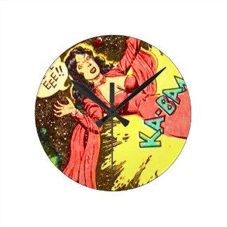 Reloj Redondo Mediano ¡Aie-eee! ¡ka-Blam!