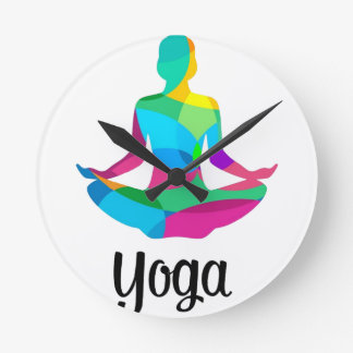 Reloj Redondo Mediano Ajuste y aptitud de la yoga