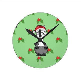 Reloj Redondo Mediano alpaca de santa del navidad