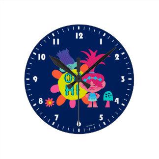 Reloj Redondo Mediano Amapola y rama de los duendes el   - oh hola allí