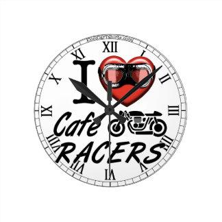 Reloj Redondo Mediano Amo a corredores del café