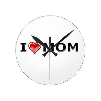 Reloj Redondo Mediano Amo a mi mamá