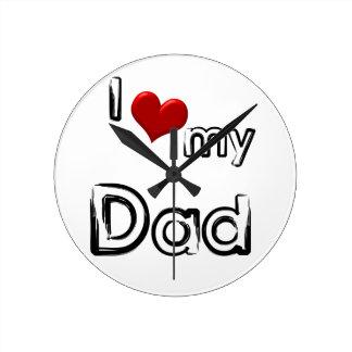 Reloj Redondo Mediano amo a mi papá