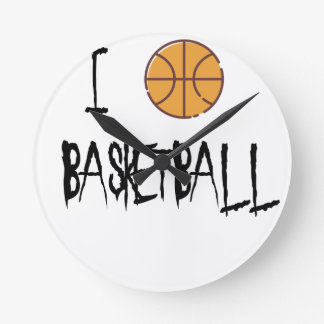 Reloj Redondo Mediano Amo baloncesto