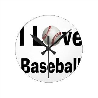 Reloj Redondo Mediano Amo béisbol