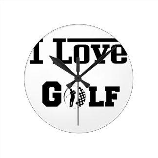 Reloj Redondo Mediano Amo el golf 2