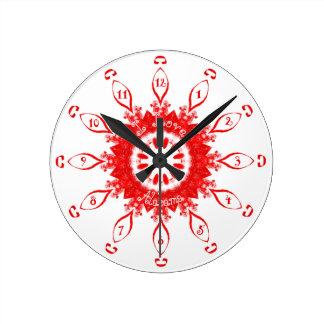 Reloj Redondo Mediano Amo el rojo de Alabama