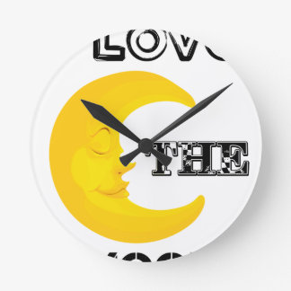 Reloj Redondo Mediano Amo la luna