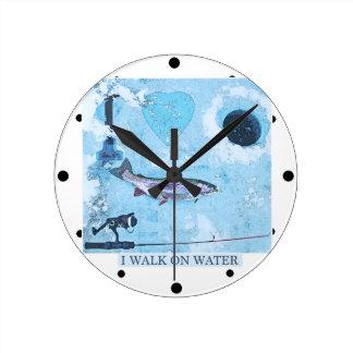 Reloj Redondo Mediano Amo la pesca del hielo