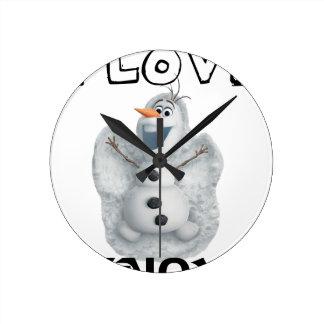 Reloj Redondo Mediano Amo nieve