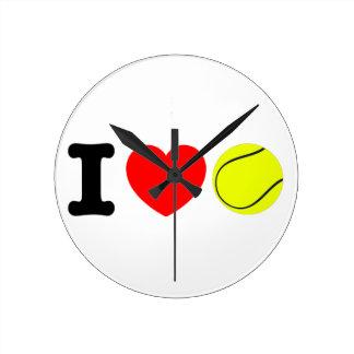 Reloj Redondo Mediano Amo tenis