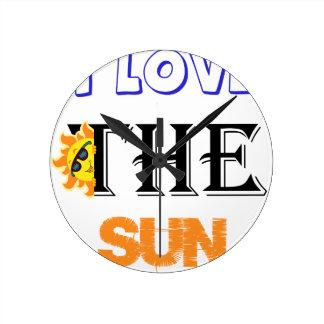 Reloj Redondo Mediano Amo The Sun