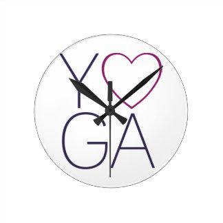 Reloj Redondo Mediano amor de la yoga