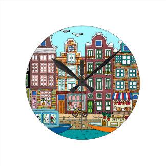 Reloj Redondo Mediano Amsterdam
