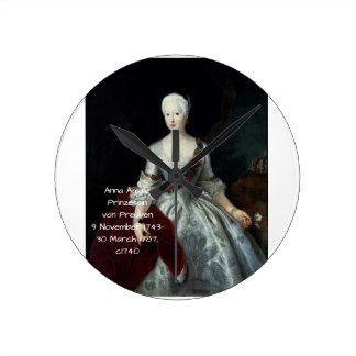 Reloj Redondo Mediano Ana Amalia Prinzessin von Preuben c1740