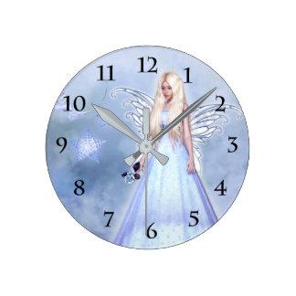 Reloj Redondo Mediano Ángel de la condolencia