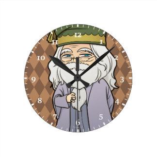 Reloj Redondo Mediano Animado Dumbledore