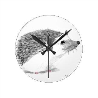 Reloj Redondo Mediano Animal del erizo del bebé
