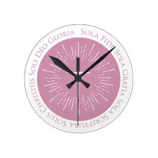 Reloj Redondo Mediano Aniversario de la reforma 500 años 1517 - 2017