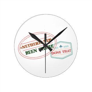 Reloj Redondo Mediano Antillas holandesas allí hecho eso