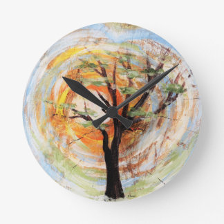 Reloj Redondo Mediano Árbol en árbol
