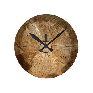 Reloj Redondo Mediano Árbol natural de MADERA el | del REGISTRO cortado
