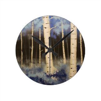Reloj Redondo Mediano Arboleda de Aspen