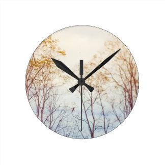 Reloj Redondo Mediano Árboles del invierno