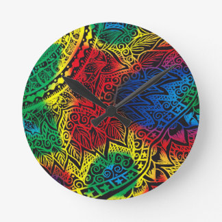 Reloj Redondo Mediano Arco iris de Pawprint