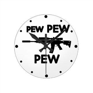 Reloj Redondo Mediano Arma del banco del banco