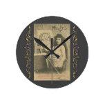 Reloj Redondo Mediano Art Nouveau modelo artístico de Alphonse