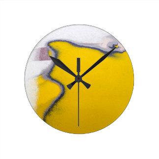 Reloj Redondo Mediano Arte de la peladura de la pintura del coche