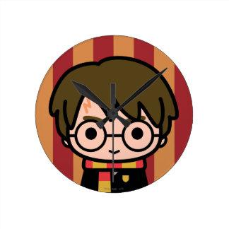 Reloj Redondo Mediano Arte del personaje de dibujos animados de Harry