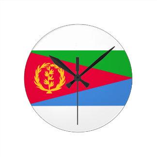 Reloj Redondo Mediano ¡Bajo costo! Bandera de Eritrea