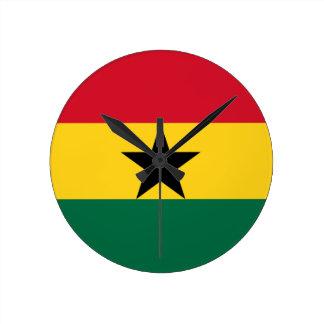 Reloj Redondo Mediano ¡Bajo costo! Bandera de Ghana