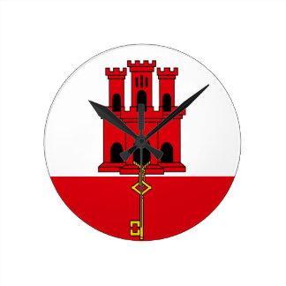 Reloj Redondo Mediano ¡Bajo costo! Bandera de Gibraltar