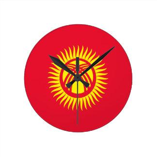Reloj Redondo Mediano ¡Bajo costo! Bandera de Kirguistán