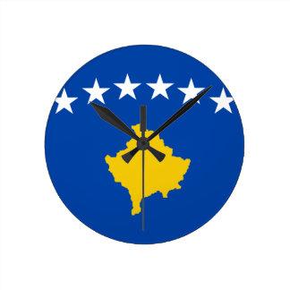 Reloj Redondo Mediano ¡Bajo costo! Bandera de Kosovo