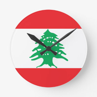 Reloj Redondo Mediano ¡Bajo costo! Bandera de Líbano