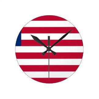 Reloj Redondo Mediano ¡Bajo costo! Bandera de Liberia
