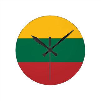 Reloj Redondo Mediano ¡Bajo costo! Bandera de Lituania