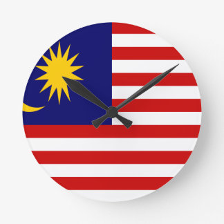 Reloj Redondo Mediano ¡Bajo costo! Bandera de Malasia