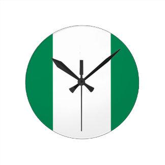 Reloj Redondo Mediano ¡Bajo costo! Bandera de Nigeria