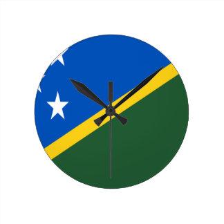 Reloj Redondo Mediano ¡Bajo costo! Bandera de Solomon Island
