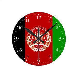 Reloj Redondo Mediano Bandera afgana patriótica