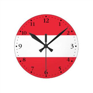 Reloj Redondo Mediano Bandera austríaca patriótica